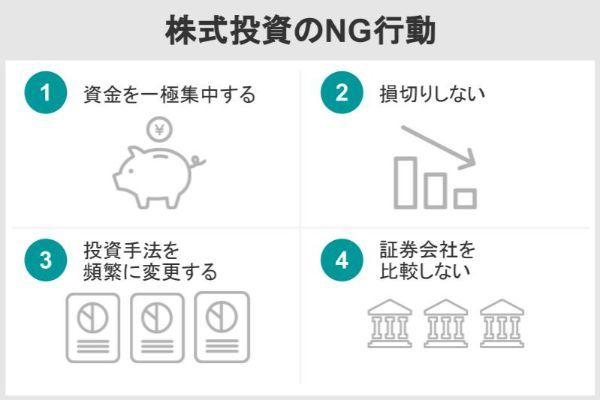 株式投資のNG行動